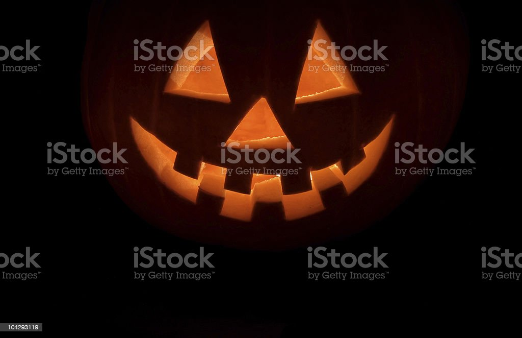 Halloween pumpkin on a black background stock photo