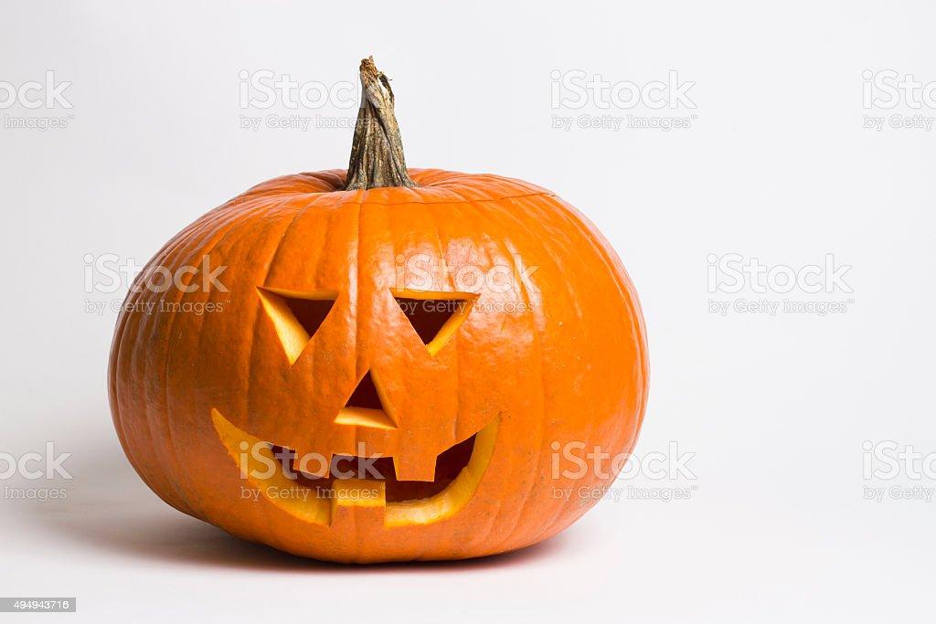 Halloween pumpkin on white background stock photo