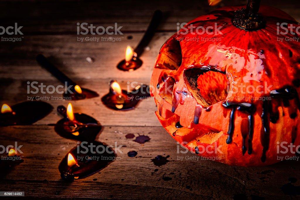 Halloween pumpkin stock photo