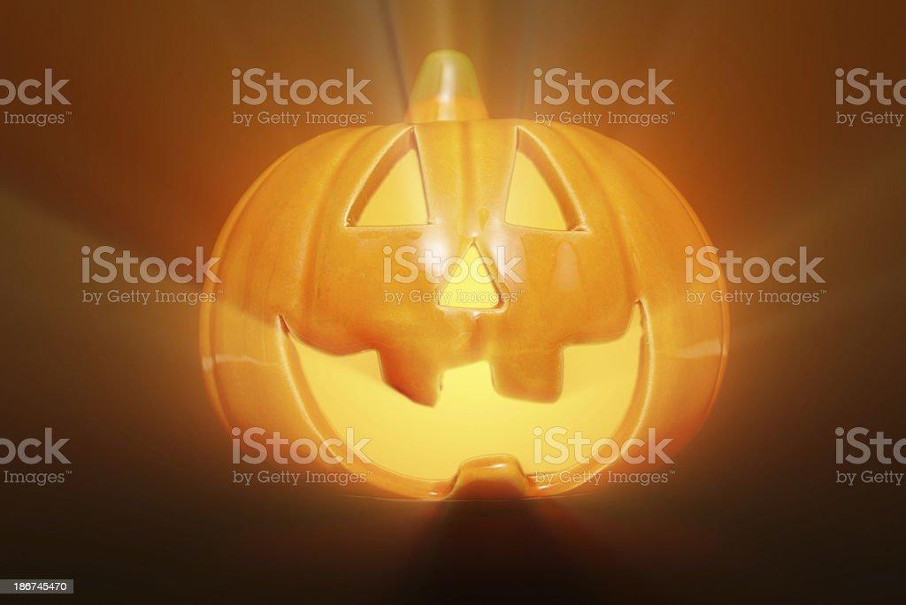 Halloween Pumpkin with dramatic lights royalty-free stock photo