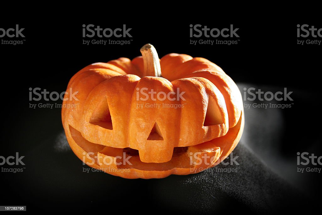 Halloween Pumpkin with path royalty-free stock photo
