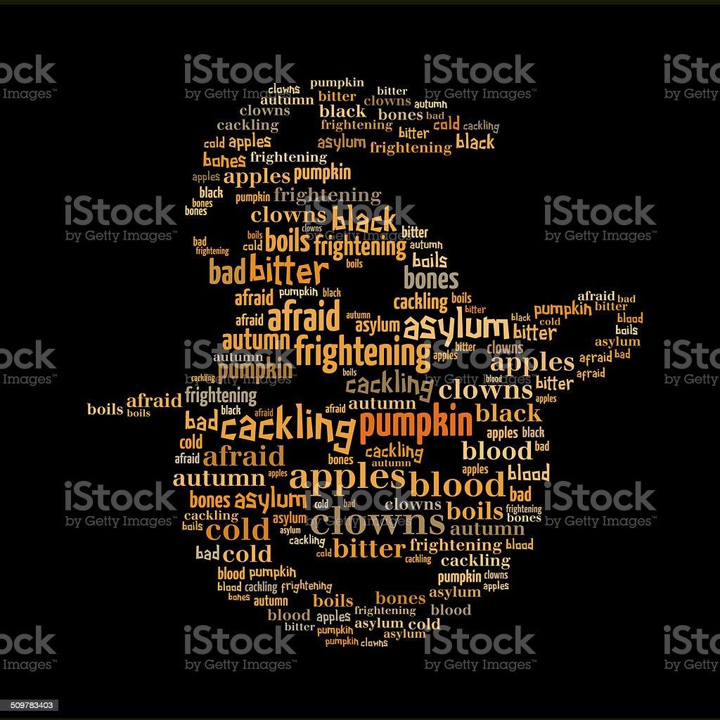 Halloween pumpkin word cloud royalty-free stock photo
