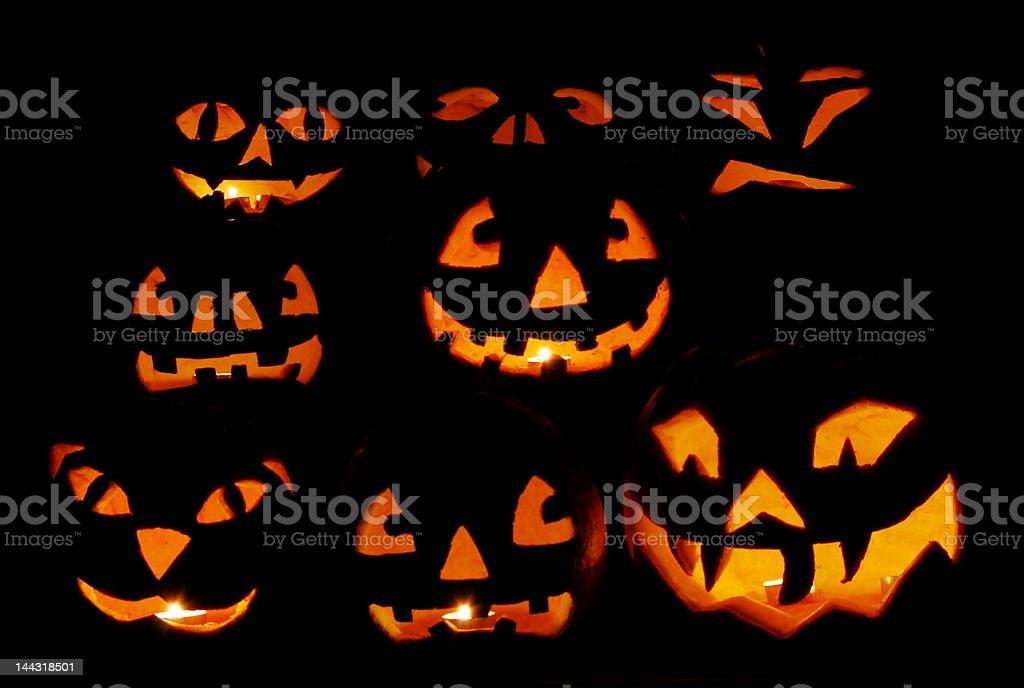 - dessus de citrouilles pour Halloween photo libre de droits