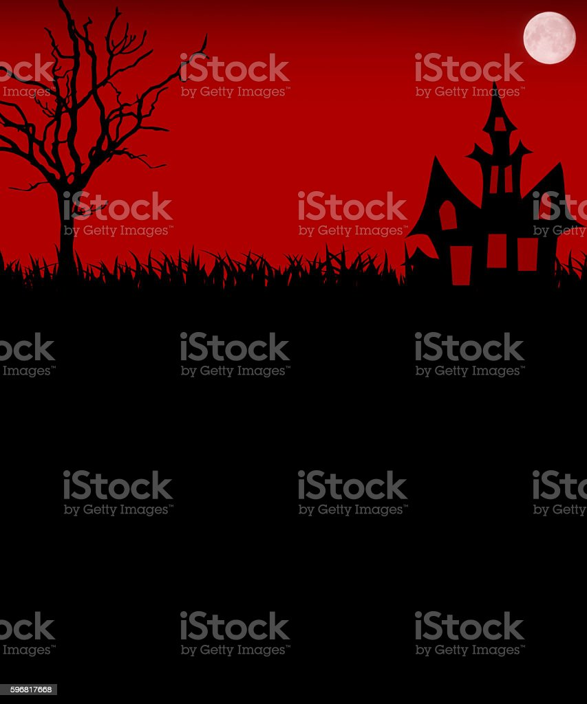 Halloween red Night stock photo