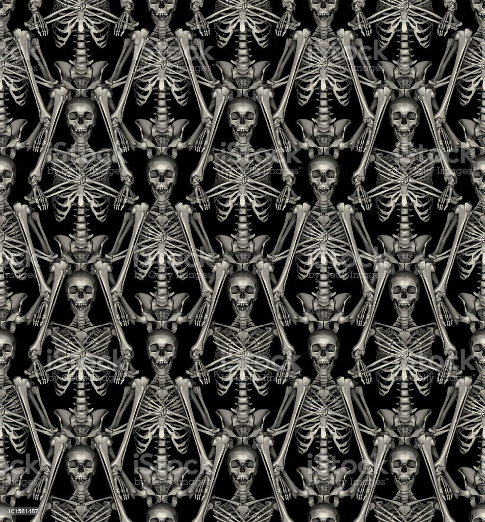 halloween seamless tile skeletons pattern stock photo 101581487