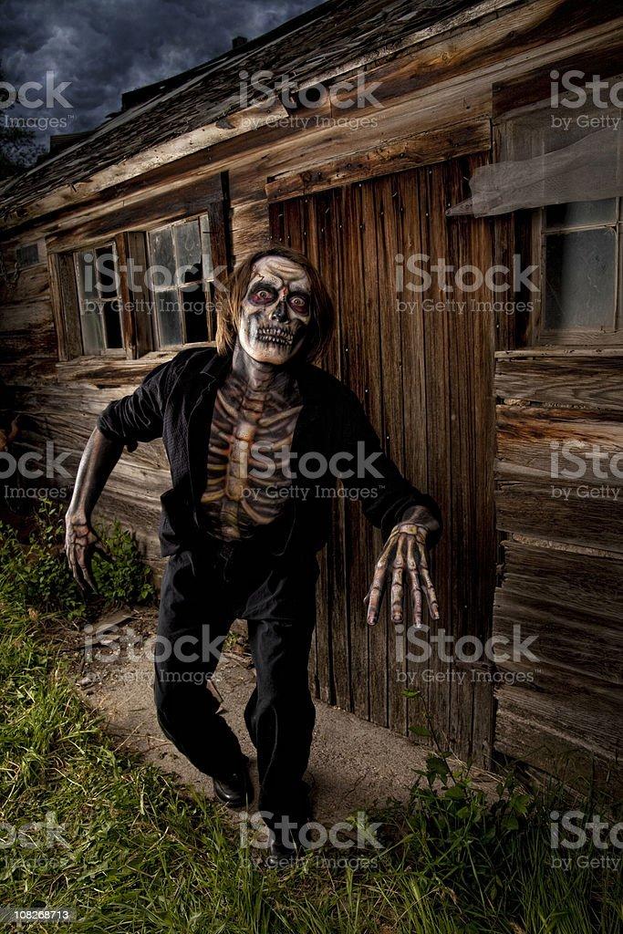 Halloween Skeleton Zombie stock photo