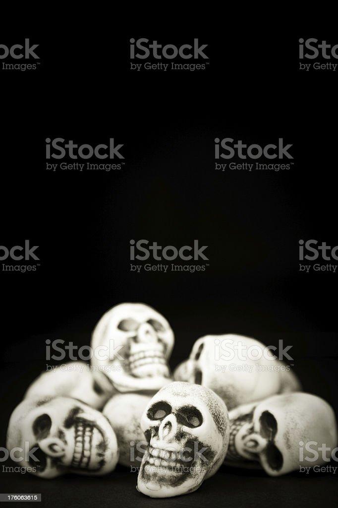 Halloween Skulls royalty-free stock photo