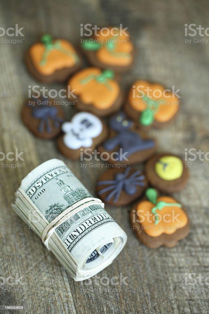 Halloween spending royalty-free stock photo