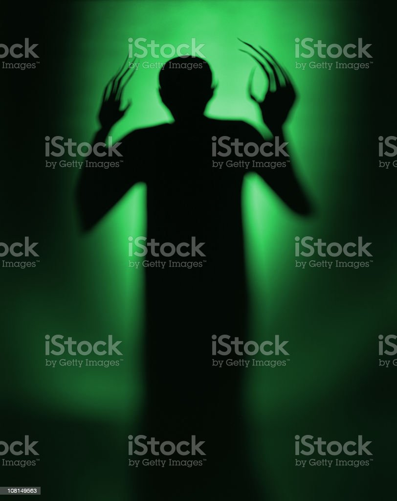 Halloween Spooky Green Alien Vampire stock photo