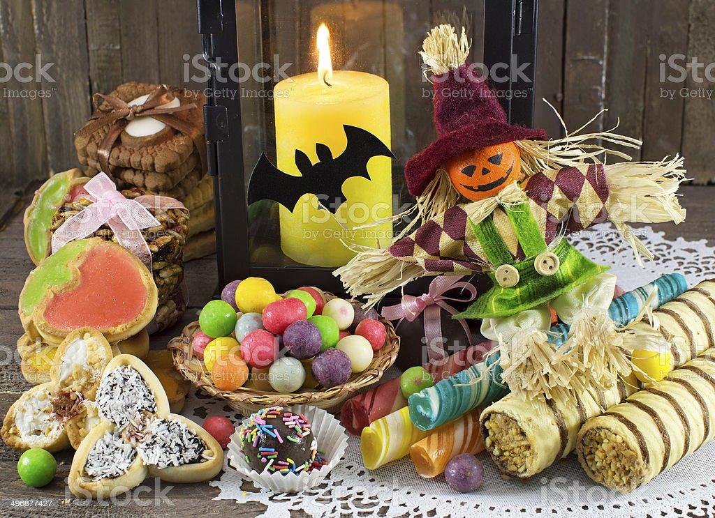 Halloween still life stock photo
