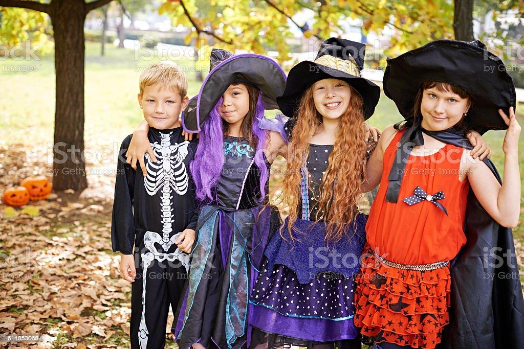 Halloween team stock photo