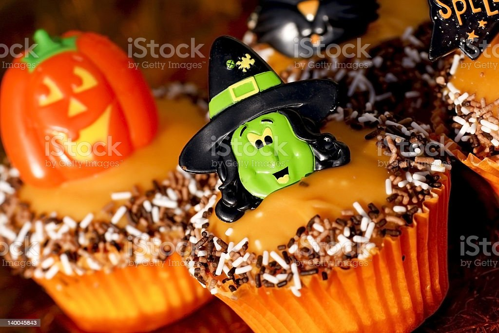 Halloween themed cupcakes royalty-free stock photo