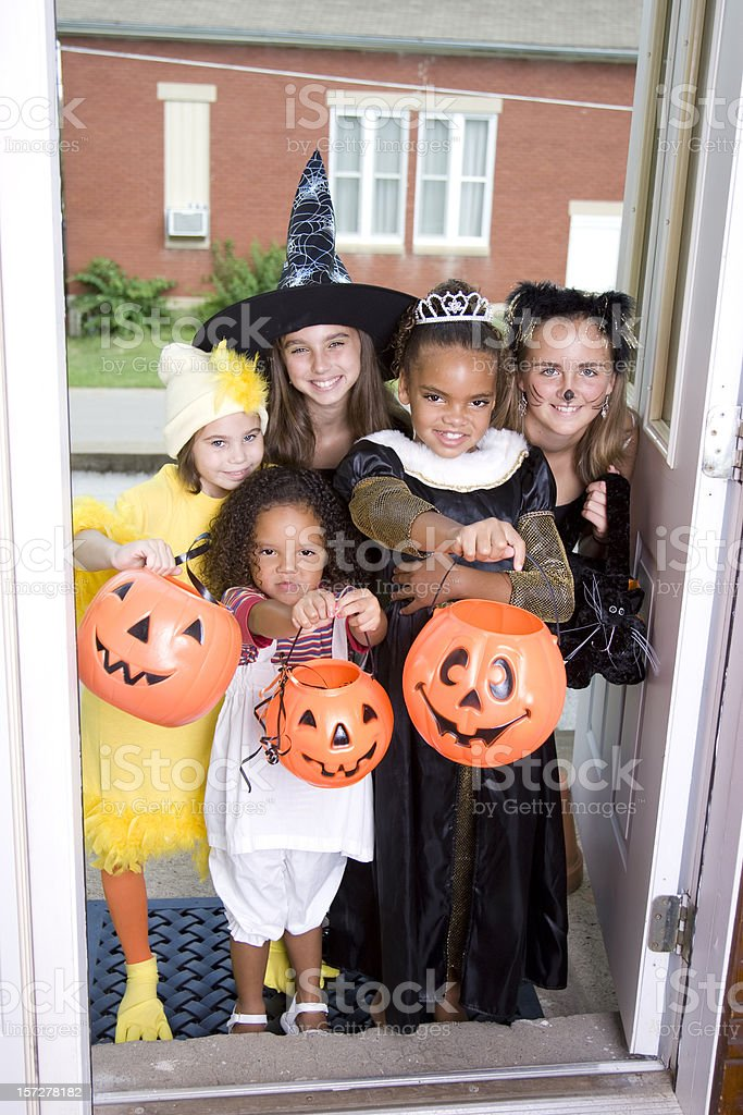 Halloween Trick or Treat royalty-free stock photo