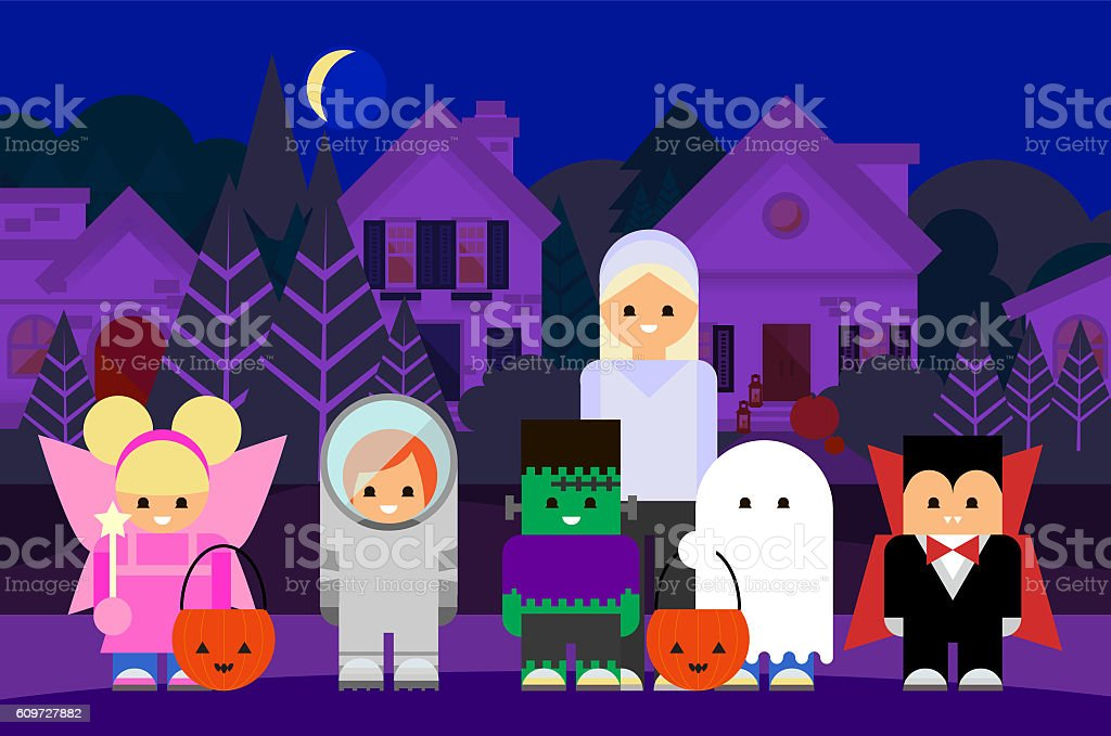 Halloween Trick or Treating stock photo