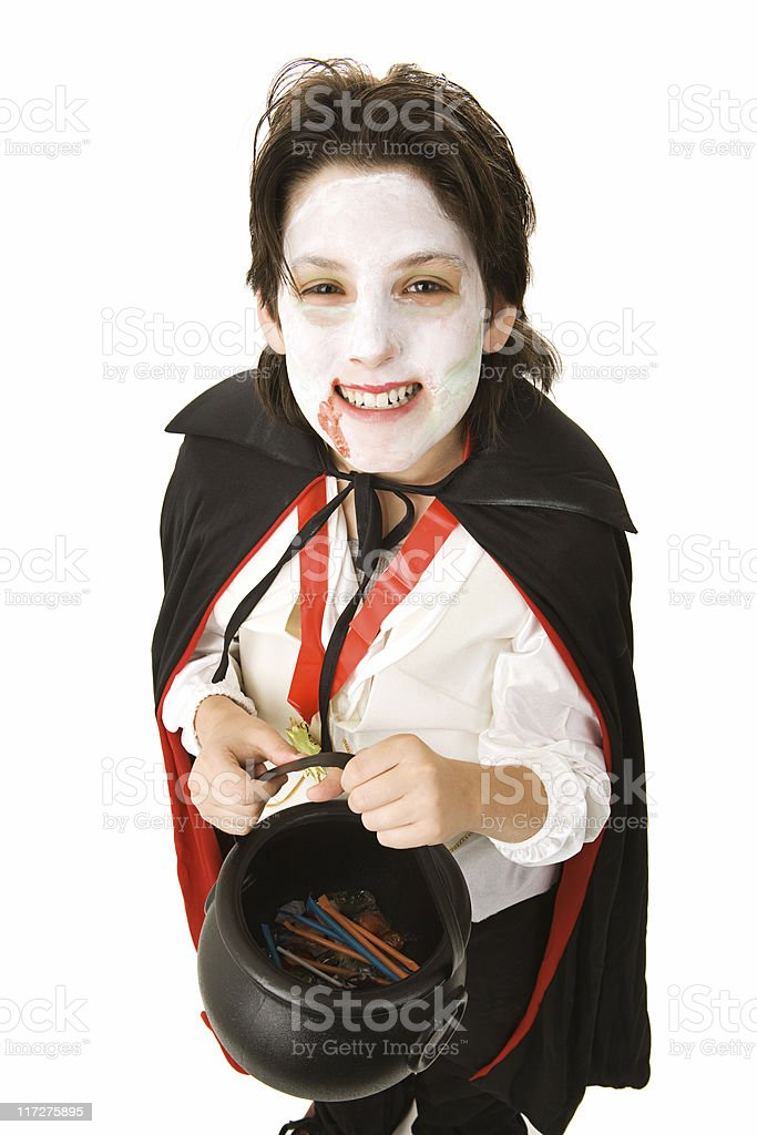 Halloween Vampire with Candy royalty-free stock photo