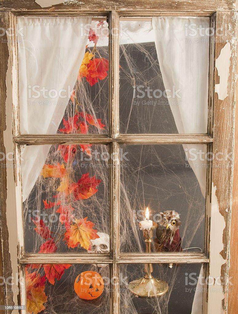 Halloween Window royalty-free stock photo