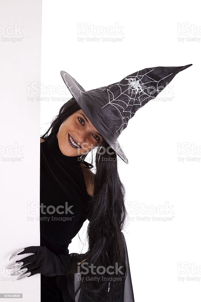 Halloween witch commercial message royalty-free stock photo