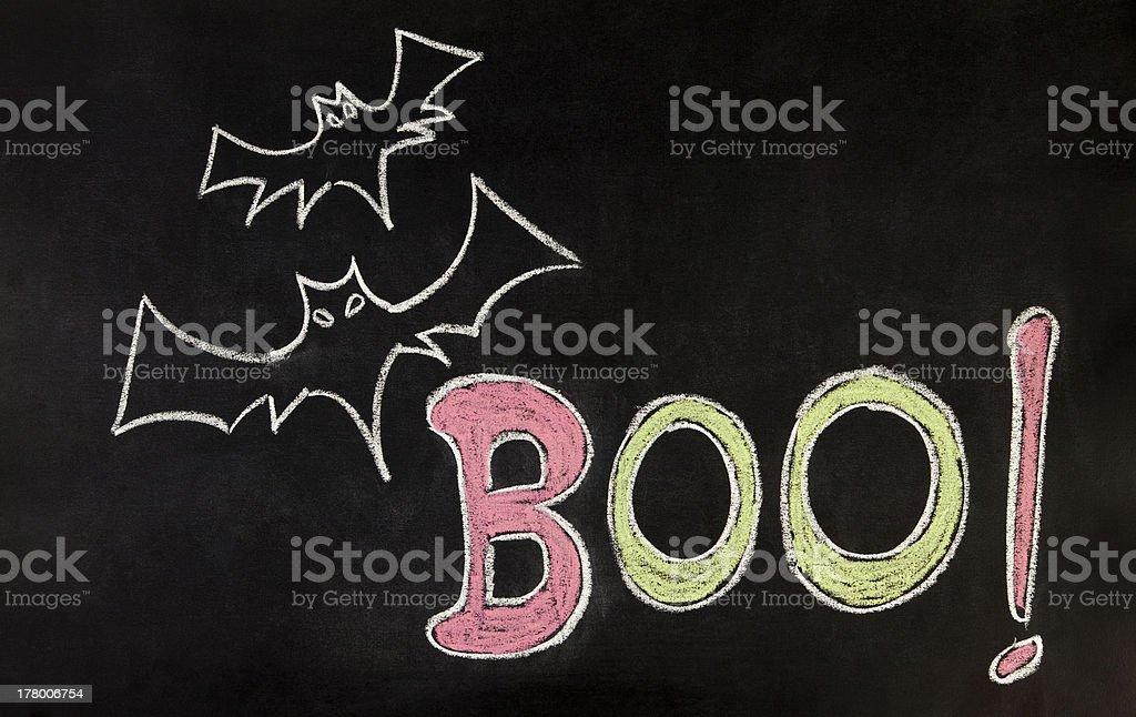 Halloween Word on blackboard royalty-free stock photo