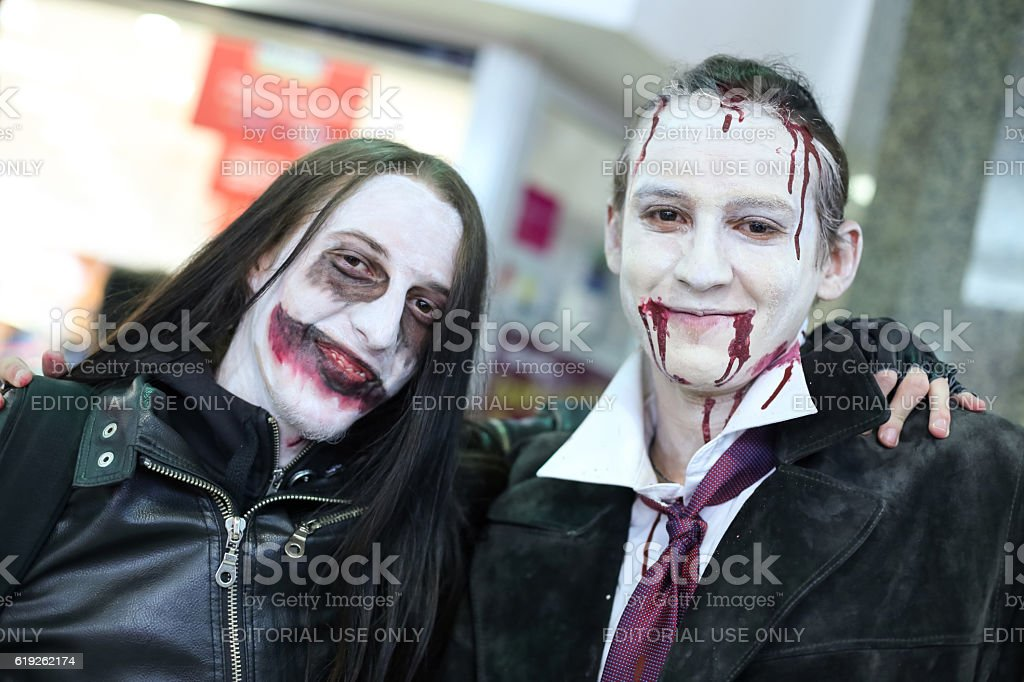 Halloween, Zagreb, Croatia. stock photo
