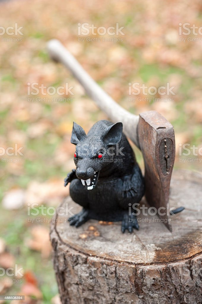 Halloween's rat stock photo