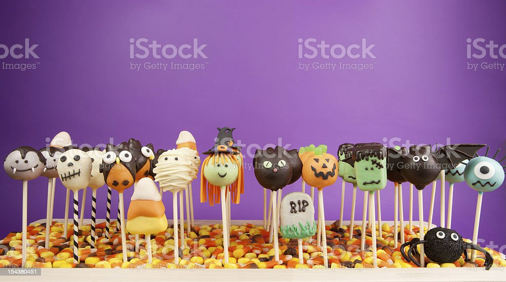 Hallowen cake pops stock photo