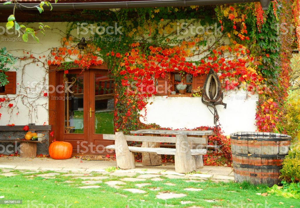 Hallowen country house stock photo