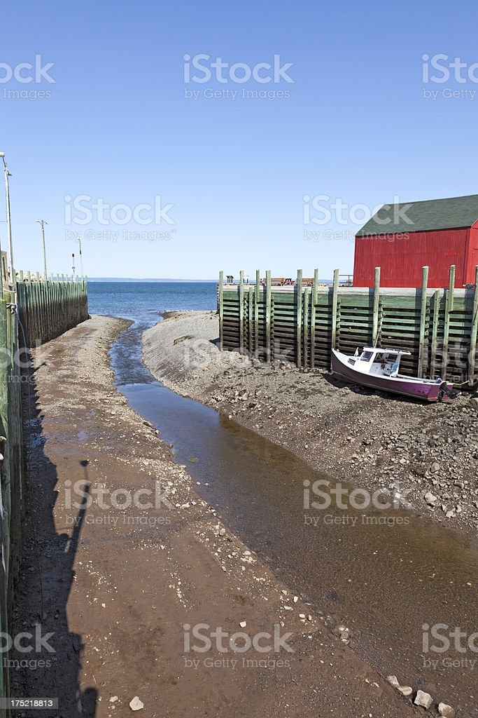 Halls Harbour royalty-free stock photo