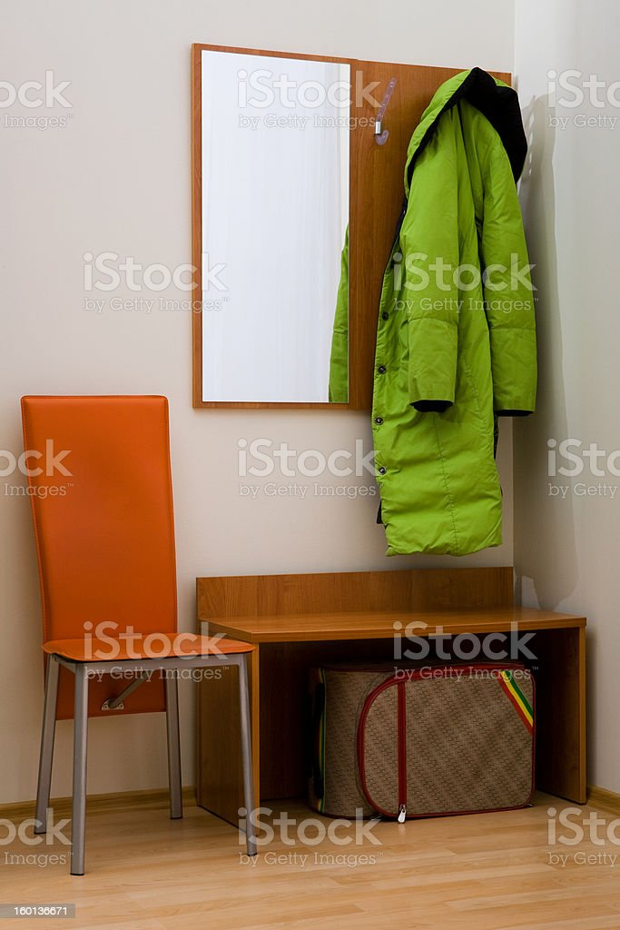 hall-stand and coat stock photo