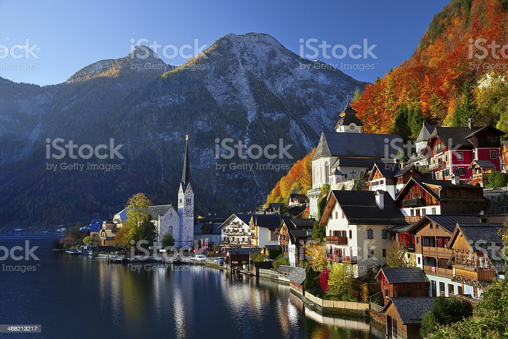 Hallstatt, Austria. stock photo