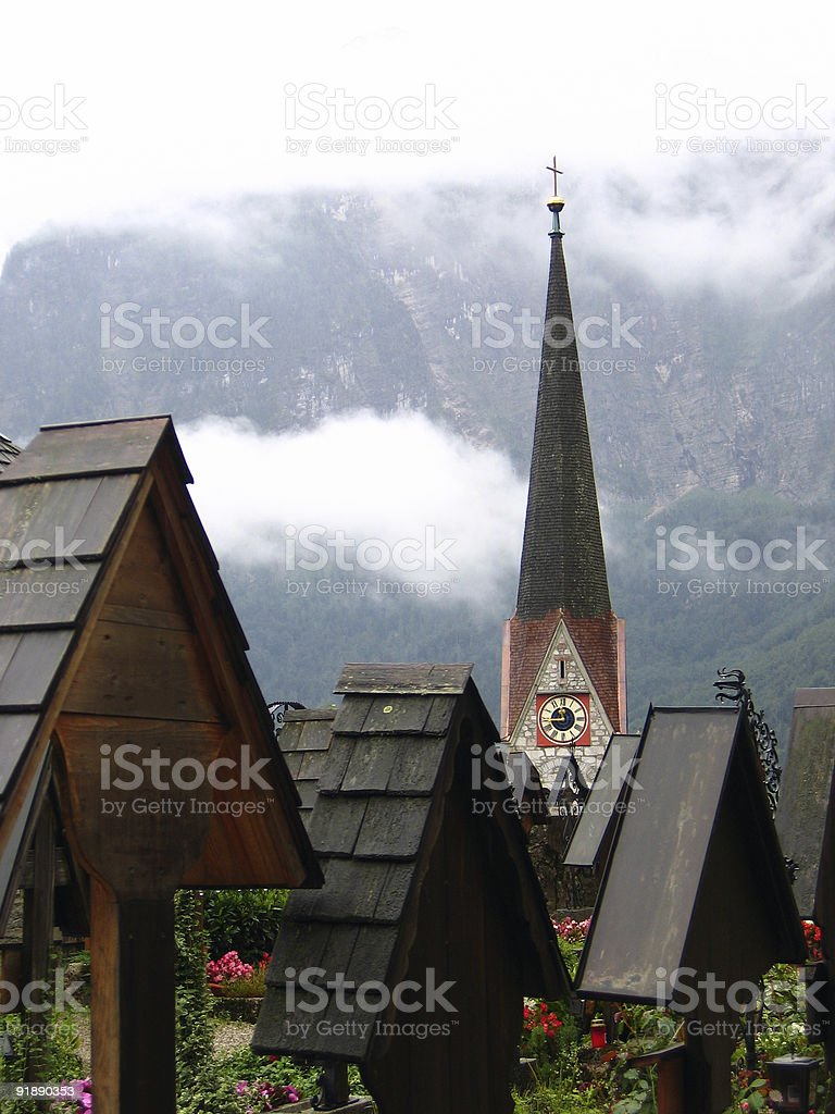 Hallstatt Cemetery - Austria royalty-free stock photo