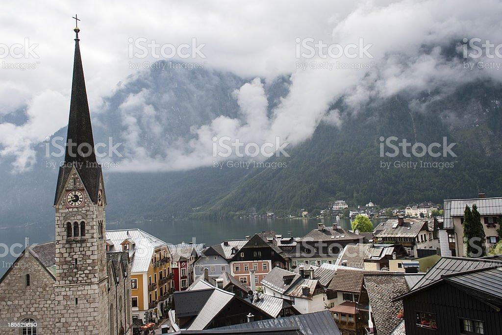 Hallstatt, Evangelical Church royalty-free stock photo