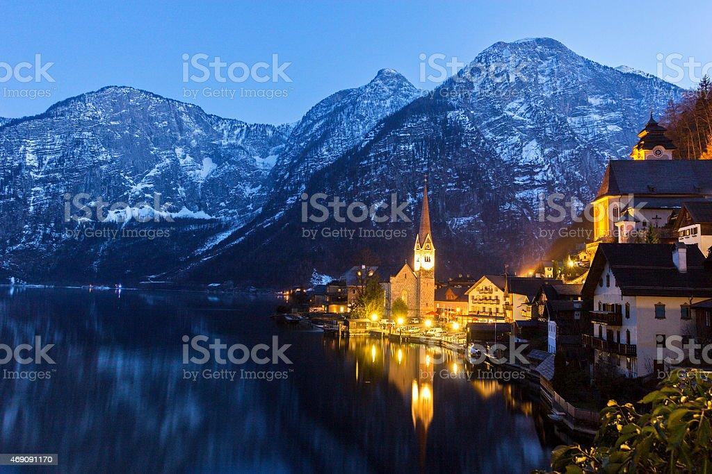 Hallstatt in Austria stock photo