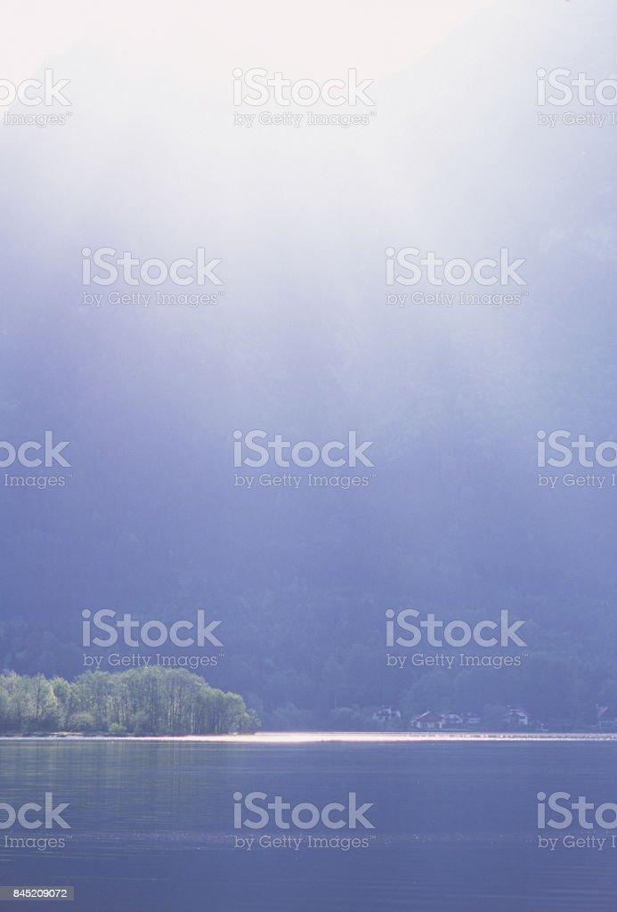 Hallstatt Lake side stock photo