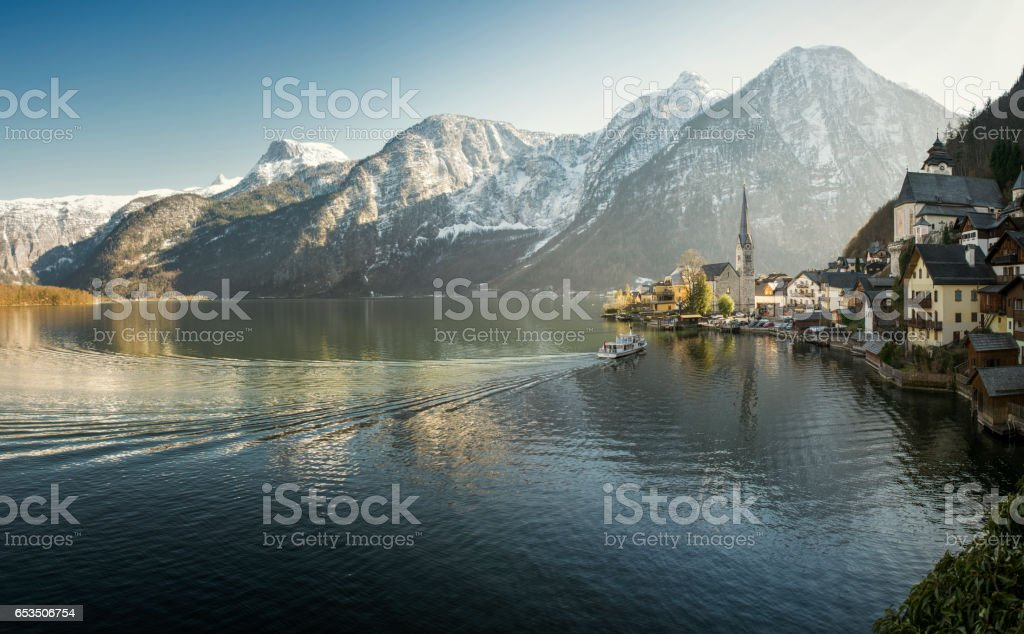 Hallstatt Salzkammergut Austria stock photo