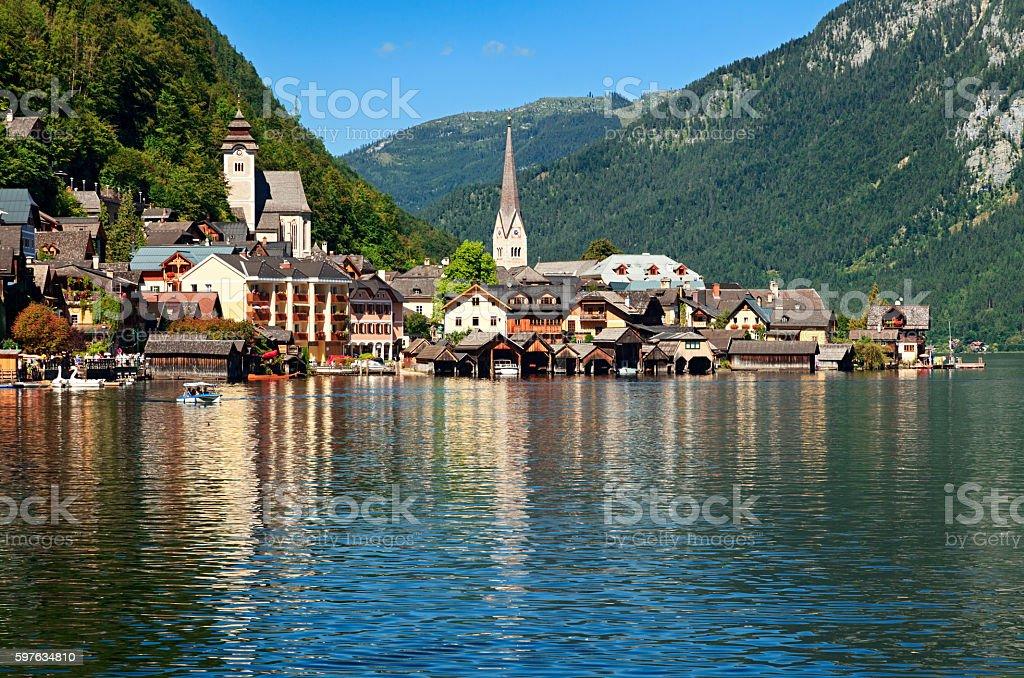 Hallstatt village, Austria stock photo