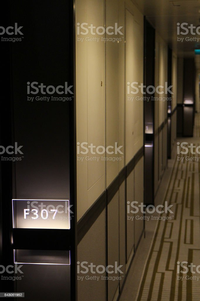 Hallway Deck stock photo