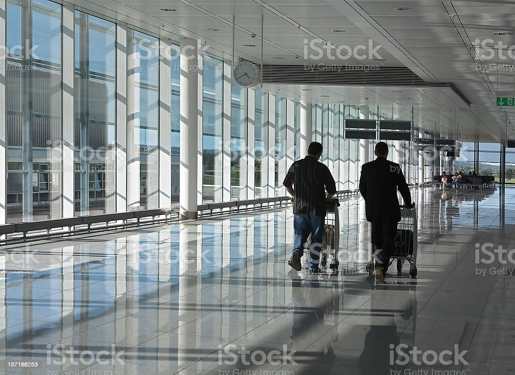 Hallway in airport terminal royalty-free stock photo
