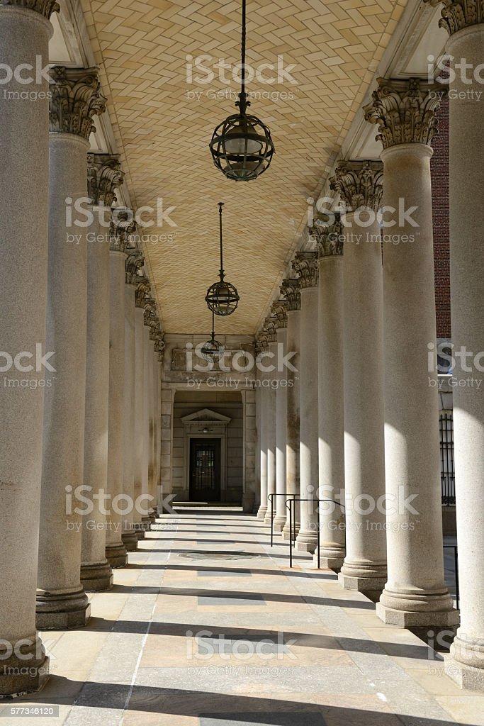Hallway in Rhode Island Supreme Court stock photo