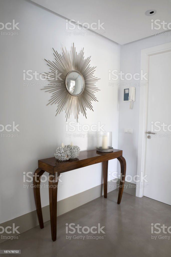 Hallway, Mirror and Intercom royalty-free stock photo