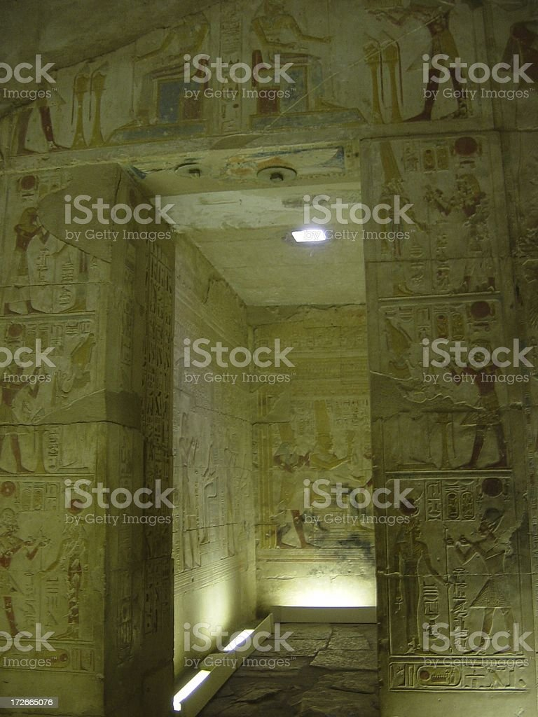 Hallway of Abydos stock photo