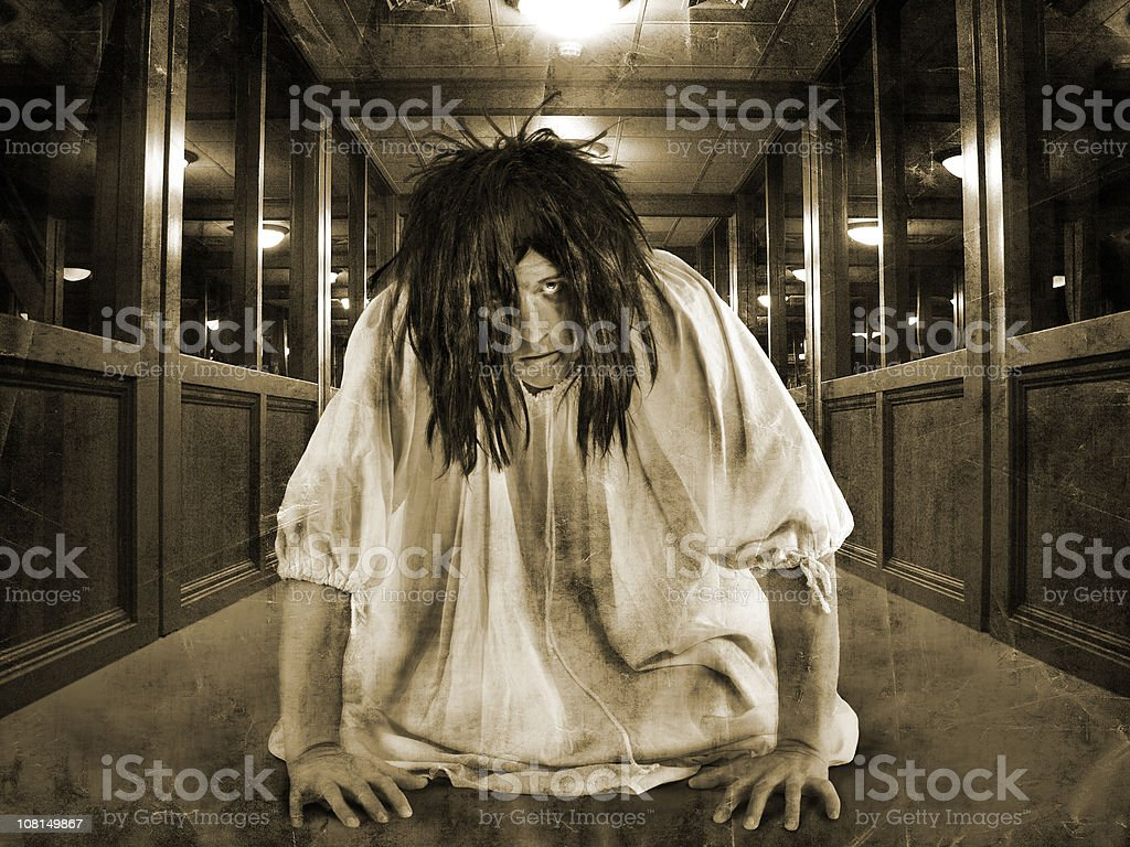 hallway of fear royalty-free stock photo