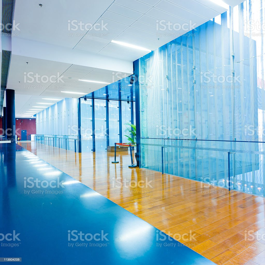Hallway of modern interior royalty-free stock photo