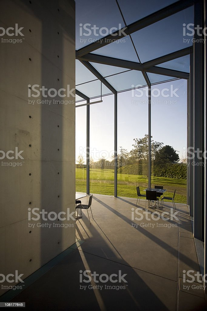 Hallway with seating royalty-free stock photo