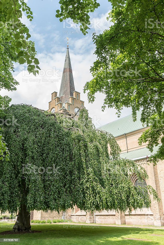 Halmstad Church in Summertime stock photo