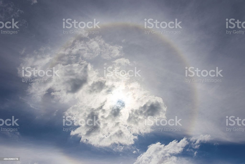 Halo cloudscape stock photo