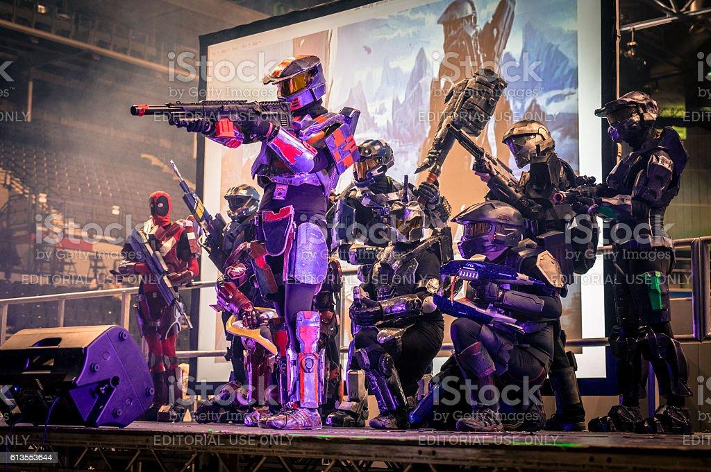 Halo Cosplay stock photo