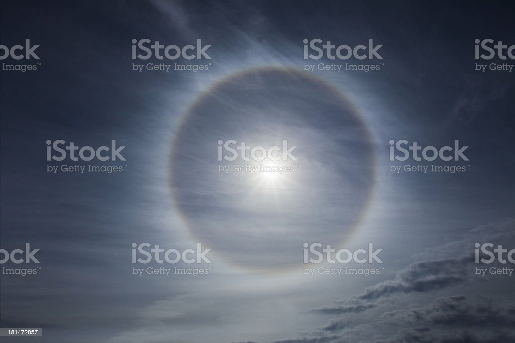 Halo effect on the sky royalty-free stock photo