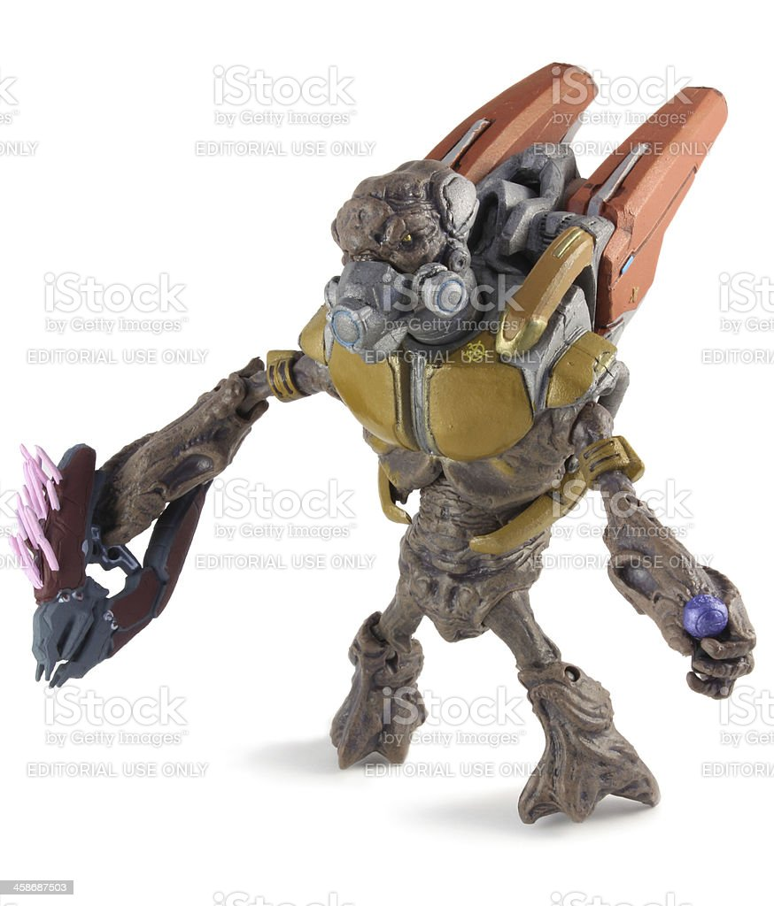 Halo Grunt Figurine stock photo