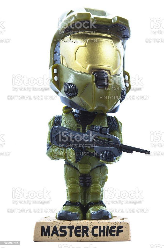 Halo Master Chief - Bobble Head stock photo