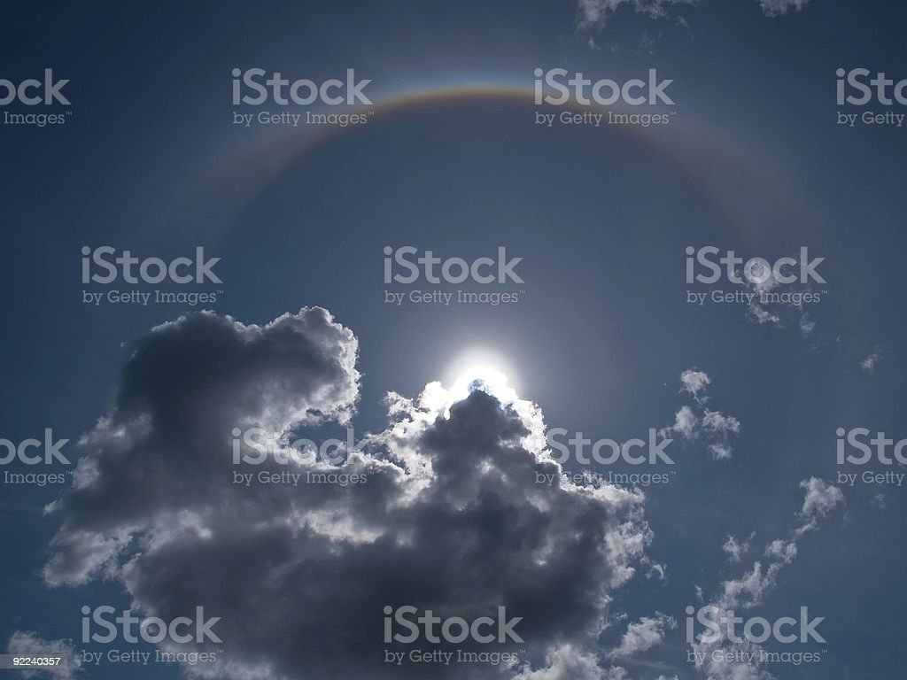 Halo Nimbus Icebow clouds formation royalty-free stock photo